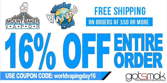 Get up to 50% off when you use one of our Mt Baker Vapor coupon codes. Discount codes can be combined with existing sales and promotions at Mount Baker Vapor for maximum savings. Also, get a Free E-Juice on orders of $15 or more. Get 15% off sitewide on your first order. Coupon can be combined with.