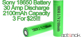 Sony 18650 3.7V 2100mAh 30A Battery 3 For $25.00