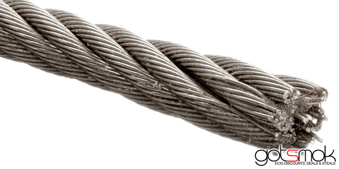 how to cut 3 16 ss wire rope