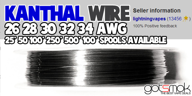 Kanthal Wire Spool (26-34 AWG, 25-1000 feet) | VAPE DEALS