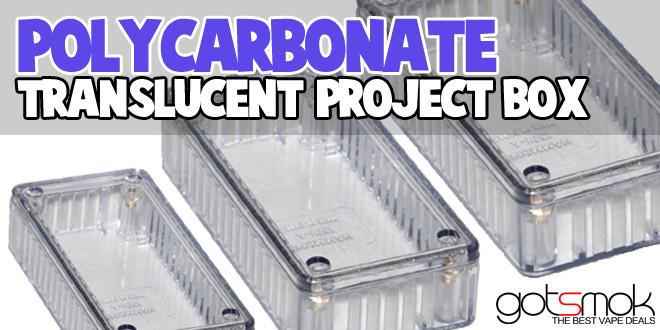 Translucent Poly Carbonate Project Box Vape Deals