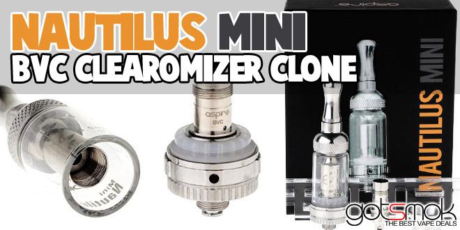 Nautilus Mini Bvc Clearomizer Clone 18 43 Vape Deals