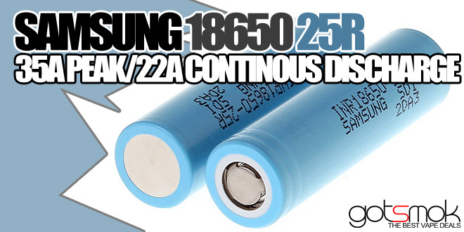Samsung 25R 18650 25A Battery $16.94