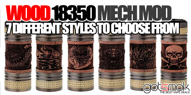 Wood 18350 Mechanical Mod $14.76