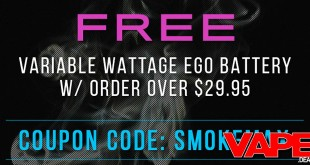 free variable wattage ego battery
