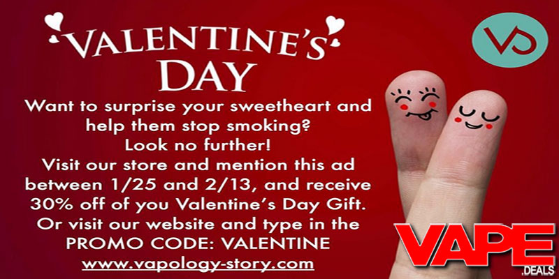 vapology story valentine's day sale (30% off) | vape deals, Ideas