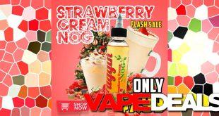 strawberry cream nog