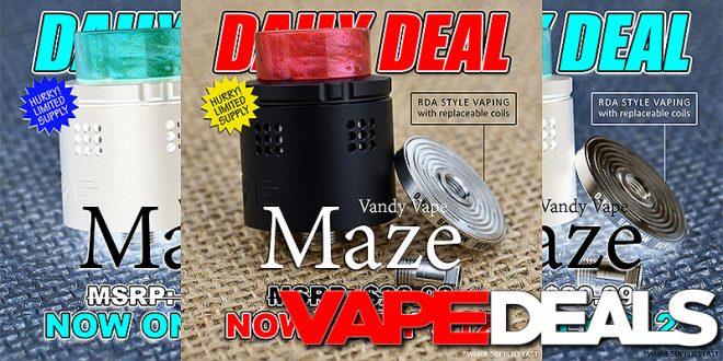 Vandy Vape Maze Sub Ohm BF RDA (Daily Deal) $11.40