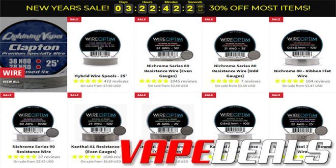 Lightning Vapes New Year's Sale (30% Off!)