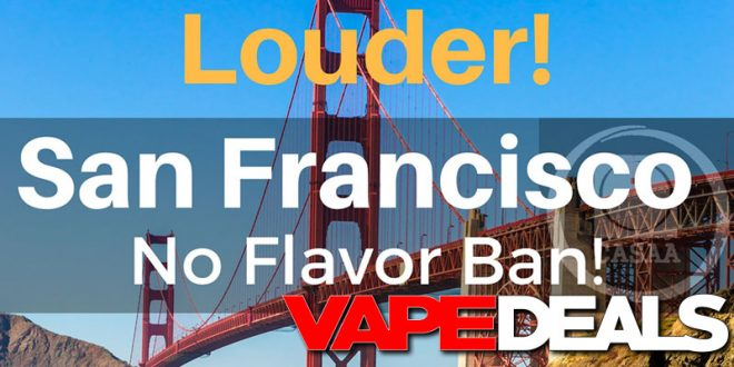 san francisco e-liquid flavor ban