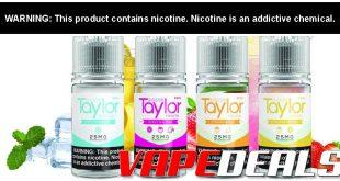 Taylor E-liquid Nic Salts (Select Flavors) $5.40