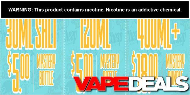 CheapEjuice Mystery E-liquid Bundles $5 00+ | VAPE DEALS