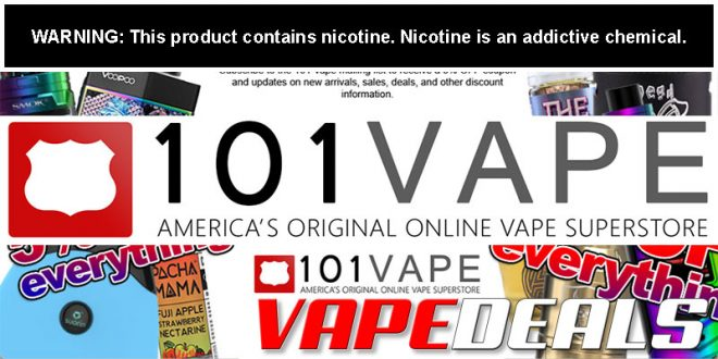 101vape Memorial Day 2020 Sale (10.1% Off Sitewide)