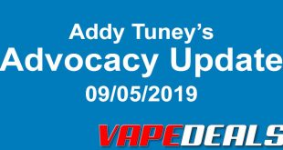 Advocacy Update from Addy Tuney 9/5/19