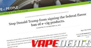 Vaping is in Danger of Being Obliterated – Please Help!
