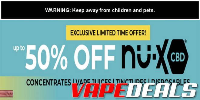 Nu-X CBD Sale is Back! (50% Off All Products)
