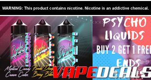 Psycho E-liquid by Puff Labs 300mL for $19.90