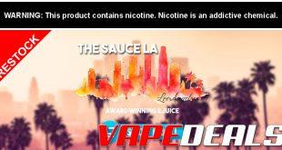 TheSauceLA Flavor Ban E-liquid Sale RESTOCK