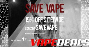 VaporDNA Save Vaping Sitewide Sale (Extra 15% Off)