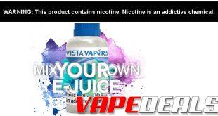 Vista Vapors Mix-Your-Own E-juice Sale (Ends 9/8)