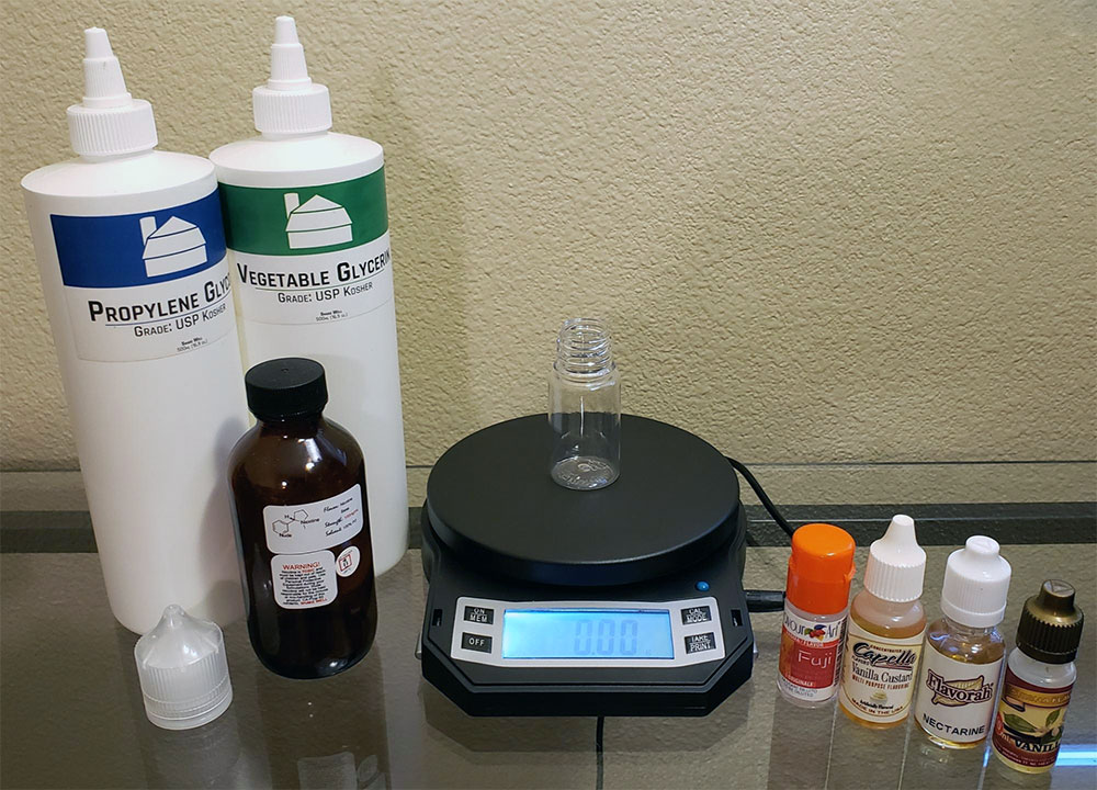 Mixing DIY E-liquid by Weight