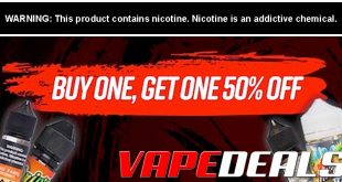 UltimateVapeDeals Buy 1 Get 1 50% Off Sale