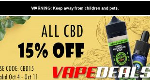 Vaporider CBD Store Sale (15% Off All Products)