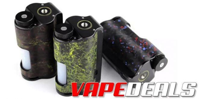 Dovpo Topside Dual Carbon 200w Squonk Box Mod $120.95