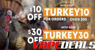 Eightvape Turkey Time Deals & Coupon Codes