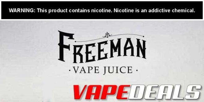 Freeman Vape Juice 4th of July 2020 Sale