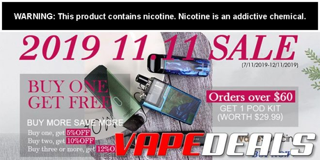Vapesourcing Double 11 2019 Sale
