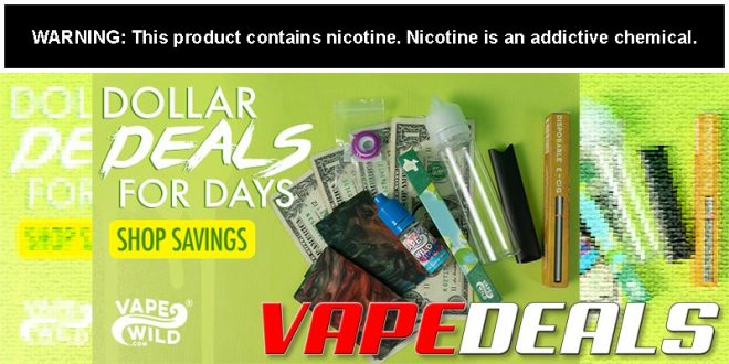 VapeWild Dollar Deals (Vape Products for $1 or Less!)
