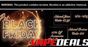 Vaporider Pre-Black Friday 2019 Sale