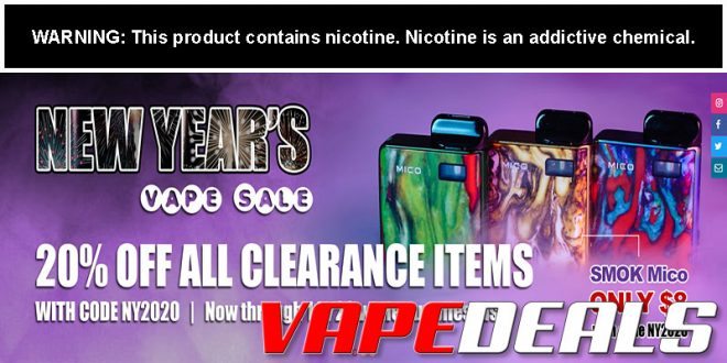 101Vape New Year's Sale (20% Off Clearance)
