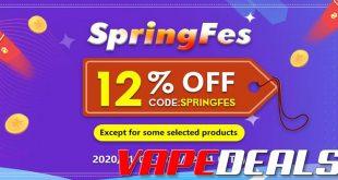 Vapeciga Spring Festival Sale (Extra 12% Off Sitewide)