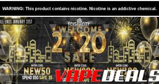 Ecig-City 2020 Sitewide Sale (Up to $20 Off)