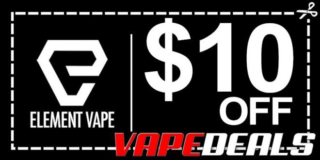 Element Vape Weekend Sale ($10 Off – Today Only)