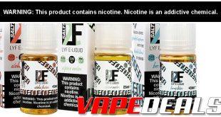 LYF E-liquid Sale 30mL Nic Salts $5.95   100mL $7.03