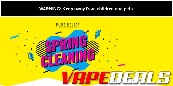 Pure Relief Spring Cleaning CBD Sale