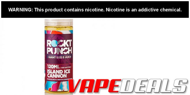 Rockt Punch E-liquid 120mL Sale (6 Flavors) $5.56