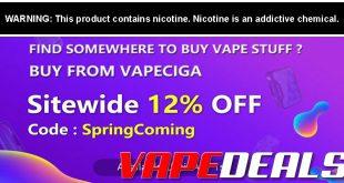Vapeciga Spring Sale & New Coupon Codes