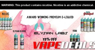 Vaporider E-liquid Sale (25% Off) & Deals of the Week