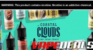 Coastal Clouds E-liquid Sale (20 Options) $7.97