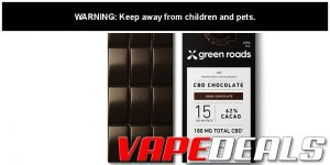 Green Roads World CBD Chocolate Bar Sale (25% Off)