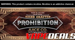 Prohibition Juice Co. E-liquid Sale (100mL) $12.80