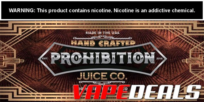 Prohibition Juice Co. E-liquid 100mL (Today Only!) $14.40