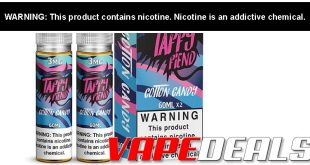 Taffy Fiend E-liquid 120mL Twin Pack (4 Flavors) $8.10