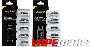 Aspire Breeze 2 Replacement Coils 5-Pack (USA) $3.99