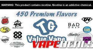 TGValueVape E-liquid Clearance Deals (Over 60 Flavors)