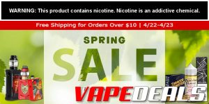 Vaporider Free Shipping on Orders $10+ (Ends Today!)